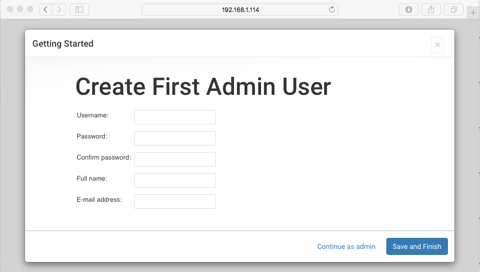 Create an Admin User