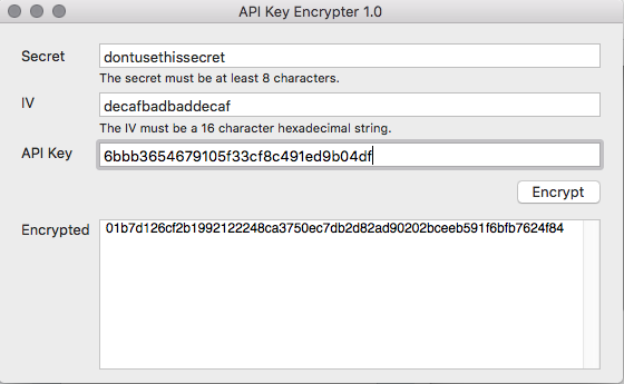 API Key Encrypter